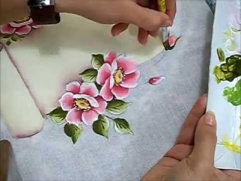 Regras da Casa - Pintura em Tecido - Rosas Silvestres - YouTube