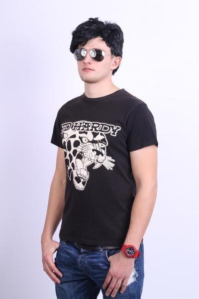 Ed Hardy Mens M Shirt Crew Neck Black Cotton Summer Jersey Tattoo - RetrospectClothes