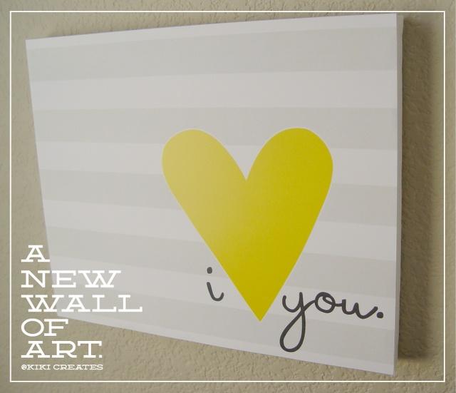 fun printables: Yellow Art, Diy Canvas Wall Art Quotes, Bedrooms Wall Of Quotes Diy, Diy Canvas Art For Bedrooms, Fun Printable, Diy Yellow And Gray Bedrooms, Easy Art, Simple Canvas Art Quotes, Rooms Decor