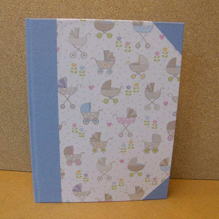 fotoalbum, maat 20 x 24 cm, 50 bladen voor geboorte's