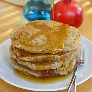 Whole Grain Pancakes with Low-Fat Buttermilk, Oatmeal, and Banana: Brown Sugar, Free Milk, Low Fat Buttermilk, Breakfast, Favorite Recipes, Buttermilk Oatmeal Pancakes, Whole Grain Pancakes, Baking Soda