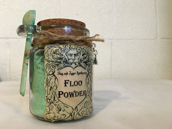 FLOO POWDER! Decorative Harry Potter Glass Jar of Magical Powder.