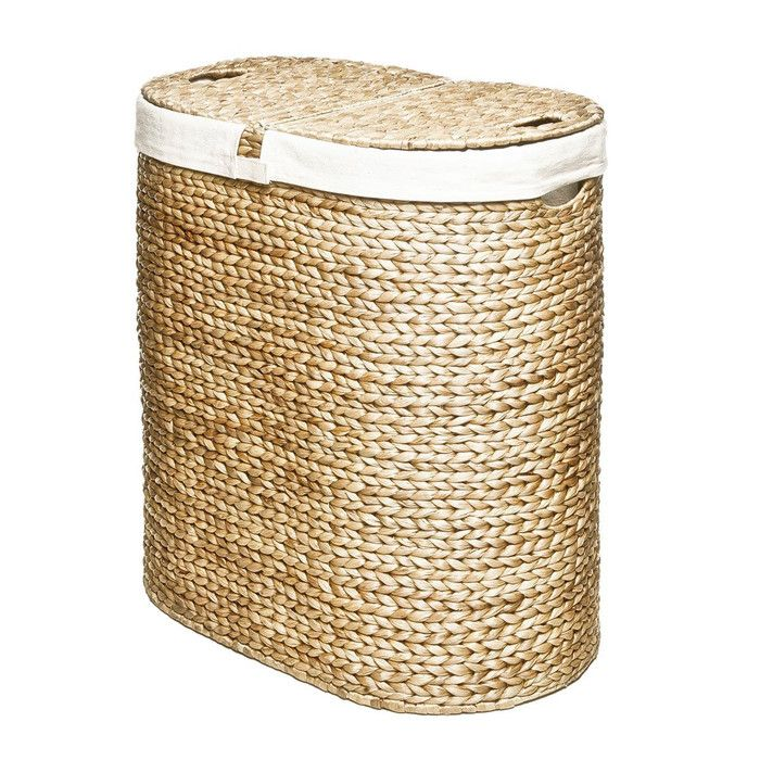 Seville Classics Classics Water Hyacinth Oval Double Laundry Hamper & Reviews | Wayfair