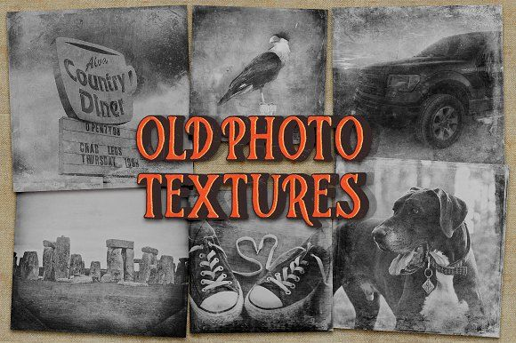 Old Photo Textures by Heather Green Designs on @creativemarket