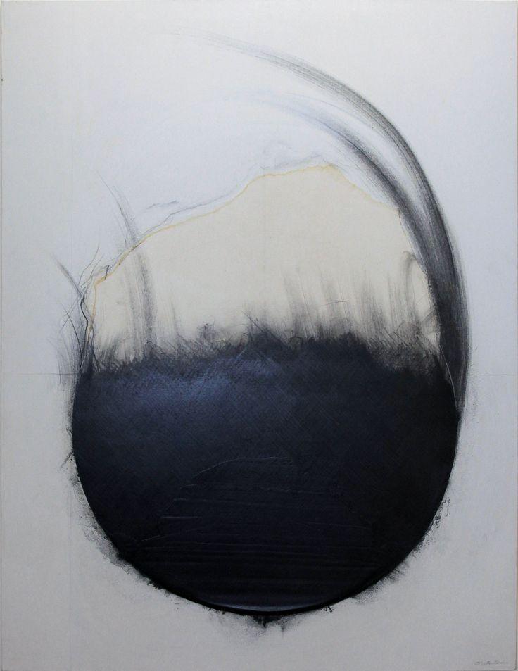 Takesada MATSUTANI - Cercle 06-8-10 (Circle 06-8-10) colle vinylique en relief et mine de plomb sur toile - 2006 146 x 114 cm.