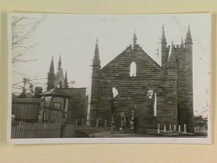 Postcard entitled 'Original Convict Church Port Arthur', printed between 1914 and 1941. From the Dreier Postcard Collection at the State Library of Victoria: http://www.slv.vic.gov.au/pictoria/gid/slv-pic-aab47817