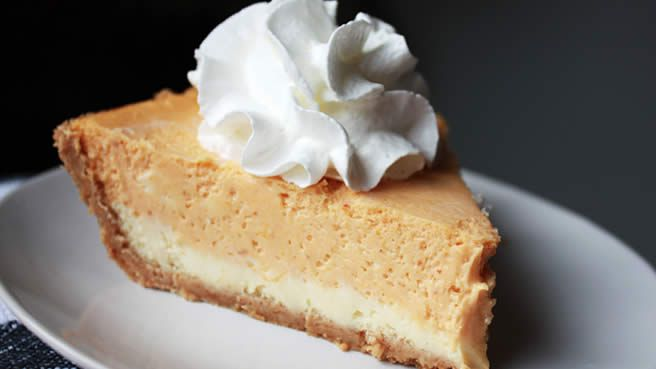 Double Layer Pumpkin Cheesecake | great spectacle | Pinterest