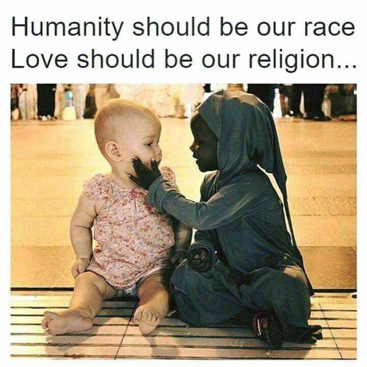 This is what I've taught my children from birth.  Not just with different race but with everyone.
