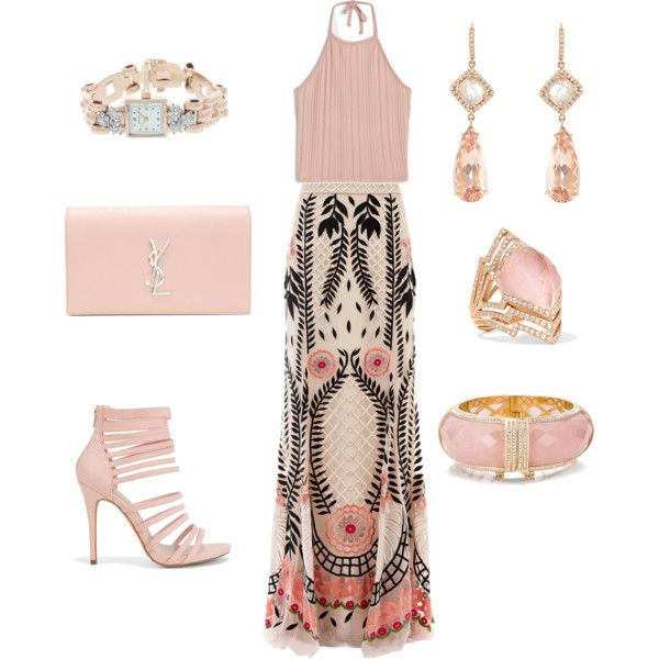 Garden wedding guest outfit by ghadalog on polyvore for I give it a year wedding dress