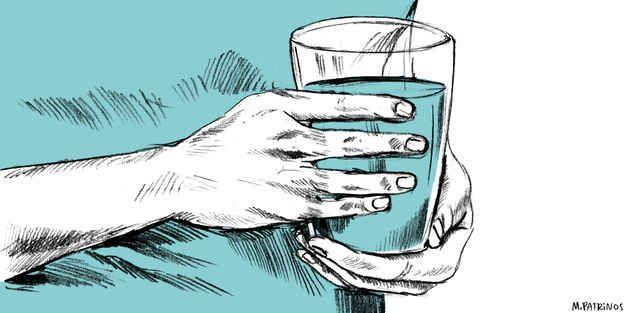 Toma agua.