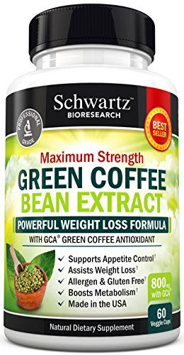 Green Coffee Bean Extract 800mg with GCA - Extra Strength Weight Loss Pills with 50% Chlorogenic Acid - Green Coffee Bean to Lose Weight - No Side Effects - Made in USA. Money Back Guarantee (60 vaggie caps)     Tag a friend who would love this!     $ FREE Shipping Worldwide     Get it here…
