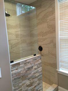 small walk in showers ideas - Google Search