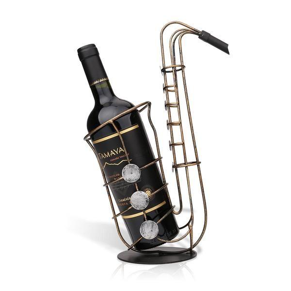 Ce Porte Bouteille De Vin Saxophone Est Bien Plus Qu Un Simple Accessoire Destine A Presenter Une Bonn Porte