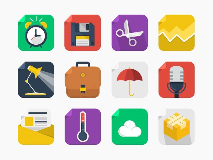 20 Free Flat Square Icons Icons AI EPS Flat Free Graphic Design Icon PNG PSD Resource SVG Vector