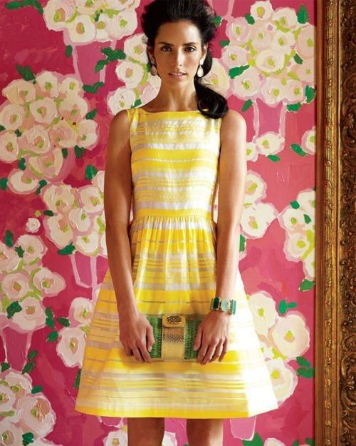 yellow dress qr code maken