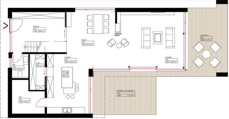 Die besten 25 doppelhaus grundriss ideen auf pinterest for Architektenhaus grundriss