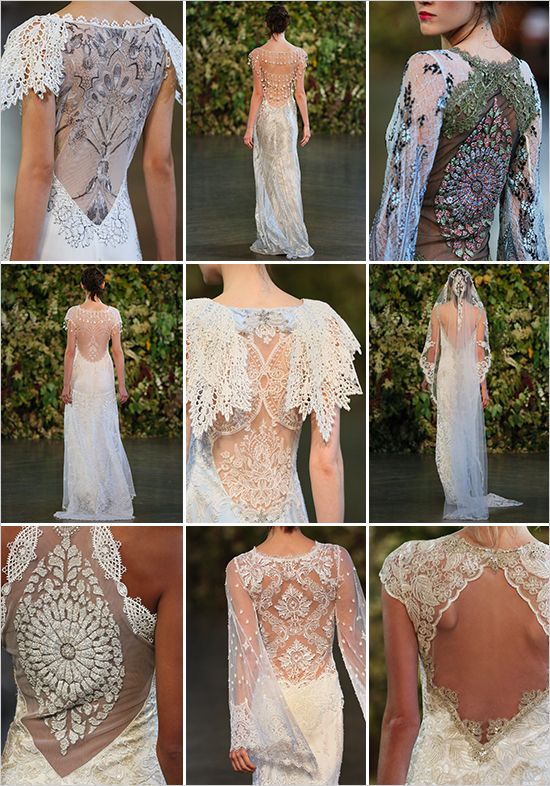 Claire pettibone fall 2015 couture bridal collection for Angel wings wedding dress
