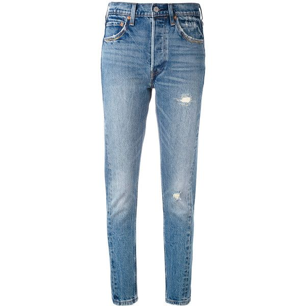 Levi's 501 Altered skinny jeans ($200) ❤ liked on Polyvore featuring jeans,  pants
