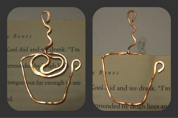 Coffee Cup / Mug Wire Bookmark by SpottedCraft on Etsy, $3.50