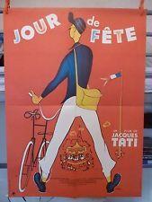 """Affiche originale (ressortie) de cinéma : """"Jour de fête"""" (Jacques Tati)"""