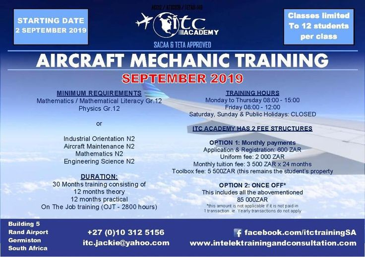 Aircraft Mechanic Vacancies In South Africa in 2020