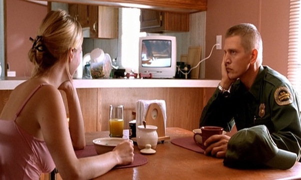 Barry Pepper & January Jones in one of the scenes in The Three Burials of Melquiades Estrada