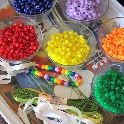 Rainbow Necklace Party Activity
