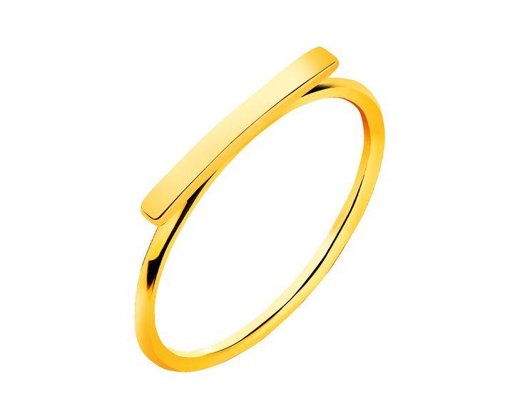 Złoty pierścionek - wzór P-948.01 / Apart