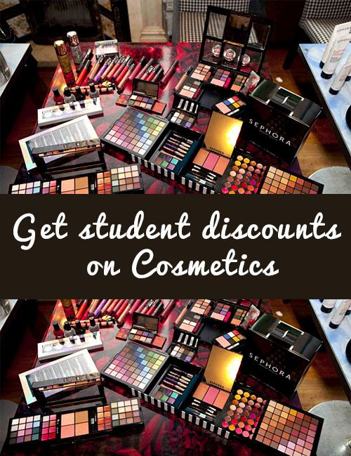 Get STUDENT discounts on Beauty and Cosmetics