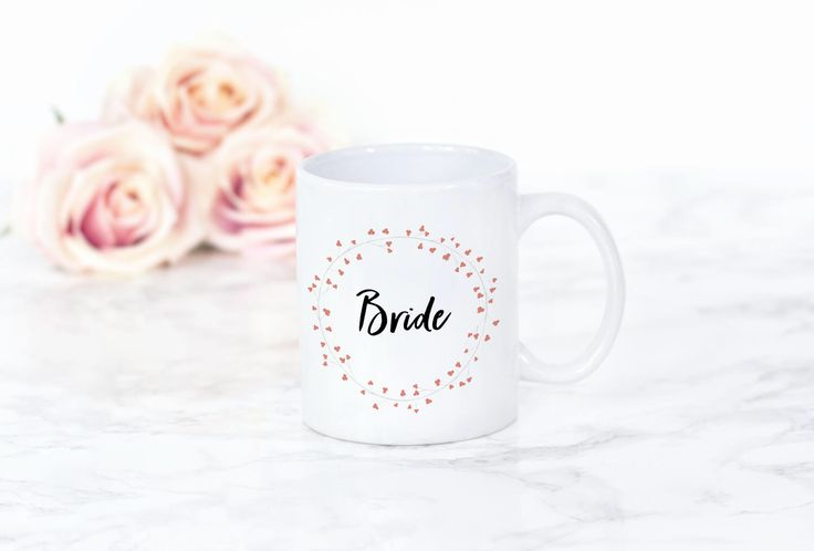 Bride Mug | Wedding Mug | Bride Coffee/tea Mug | Bride Latte Mug | Wedding gift mug by FrazzleFlorrie on Etsy https://www.etsy.com/uk/listing/465831704/bride-mug-wedding-mug-bride-coffeetea