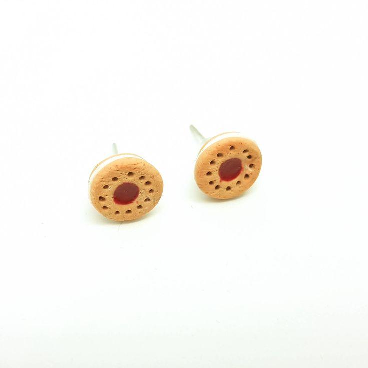 Cookie Earrings,Biscuit studs,Polymer Clay Studs,Cookie Studs,Food Earrings,Food jewelry,Cute cookie earrings,Gift ideas for her,Food Studs #myfimo #bystellakyriakou #etsy #polymerclayjewelry #handmade #handmadejewelry #jewelry #earrings #earlobe #studearrings #foodjewelry #foodearrings #polymerclaystuds #studs http://etsy.me/2EH92zi
