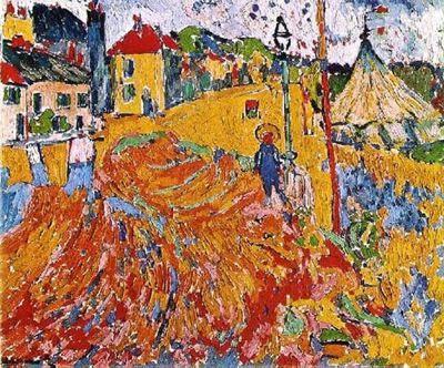 Ciudad de la pintura -VLAMINCK, Maurice de French Fauvist (1876-1958) The Circus