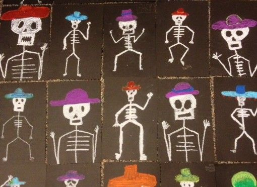 6th Grade Day of the Dead Skeletons