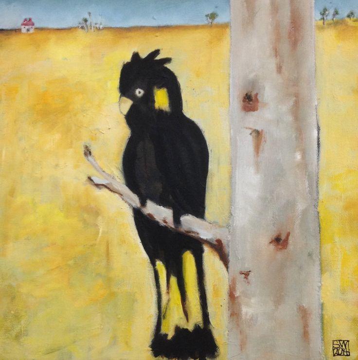 Black cockatoo -  oil on canvas - (30 x 30 cm) sold