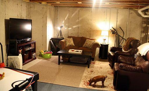 best 25 unfinished basement decorating ideas on pinterest unfinished basement bedroom. Black Bedroom Furniture Sets. Home Design Ideas