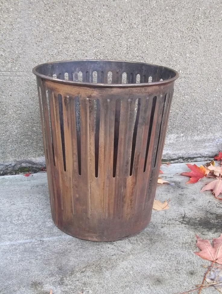 Vintage Industrial Waste Basket  Erie Art Metal Company. $270.00, via Etsy.