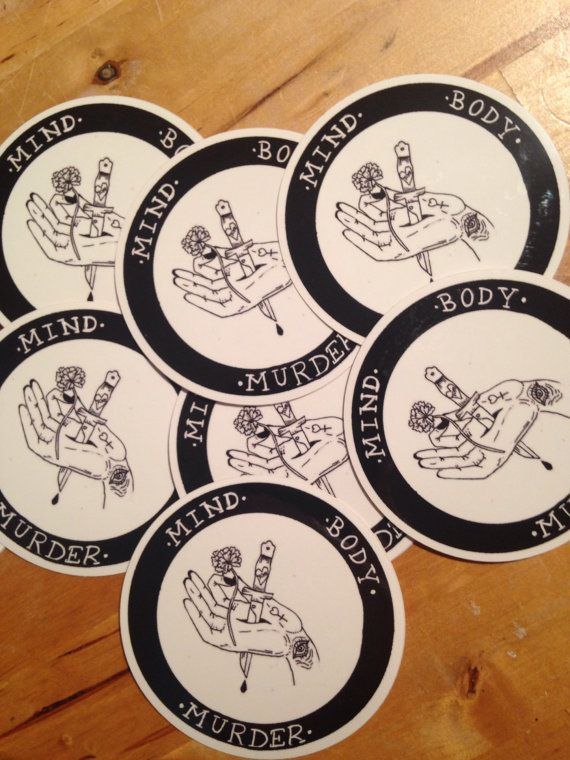 My favourite murder podcast sticker mind body murder by lilchive