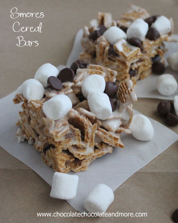 Smores Cereal Bars-Golden Grahams, marshmallows and chocolate all in a yummy bar!