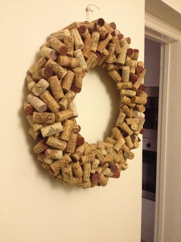Cork Wreath! Finished!