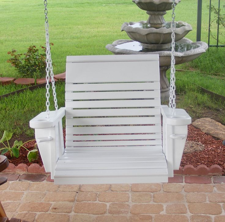 Painted Porch Swings From Callahan Furniture, Cross Plains Texas