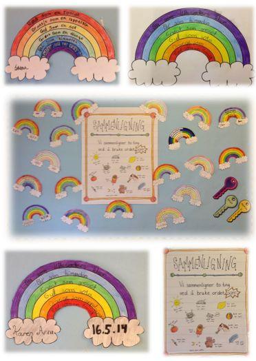 PY 4&5 Uke 20: Vi jobber videre med sammenligning. Elevene har funnet en del av de vanligste sammenligningene vi bruker i vår daglitale og deretter laget regnbuer med sammenligningsdikt. Ble de ikke fine:)?