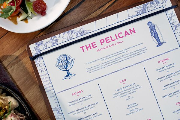 The Pelican is a seafood dining institute inspired by the comfort and celebratory spirit of seafarers returning to land after a long voyage. Inspired by the pelican, a bird often seen on coastal regions, the restaurant brings to mind the anticipation visi…