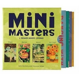 Mini Masters boxed set kids board books.  Set includes: Dancing with Degas, A Picnic with Monet, A Magical Day with Matisse & In the Garden with Van Gogh.