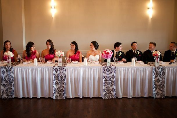 Bride And Groom Head Table Decorations