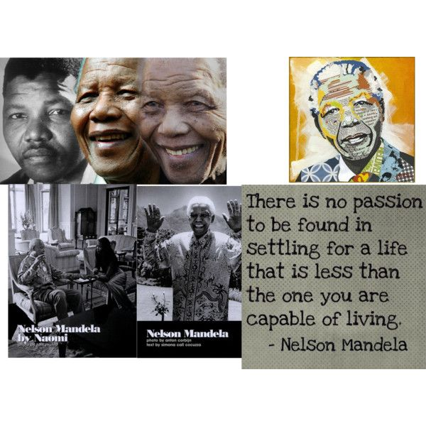 """18.07.2013 - 05.12.2013 R.I.P Mr Nelson Mandela - our nation South Africa mourns one of our greatest"" by saffagirl on Polyvore"