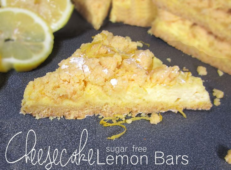SUGAR FREE LEMON CHEESECAKE BARS with Splenda Granular, Sugar Free Cake Mix and Jello Instant pudding