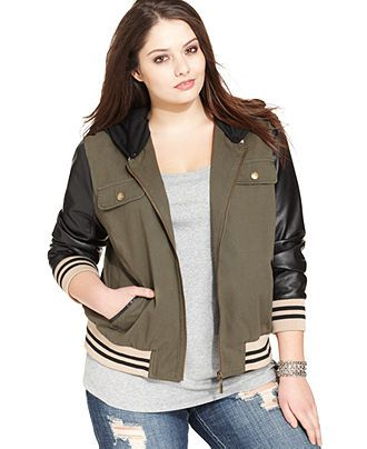 Plus Size Baseball Jacket - Plus Size Jackets & Blazers - Plus Sizes - Macy's