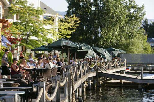 Hotel Eldorado's boardwalk restaurant: Kelowna, Okanagan, BC