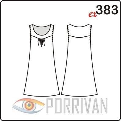 Абсолютно летняя модель платья. Рукавов нет, сложность в шитье только в кокетке, которую придётся дублировать клеевой. Кокетку, кстати, можно кроить из тка