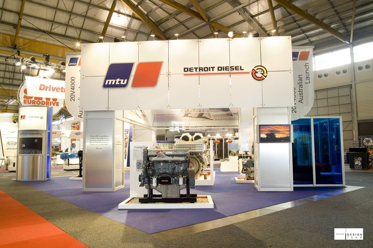 MTU @ AIMEX An important market for MTU is the mining industry. This stand is developed for the most important mining exhibition in Australia